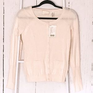Anthropologie Guinevere pale pink cardigan sweater